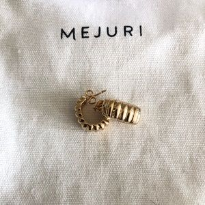 Mejuri gold plated crescent hoops earrings new!